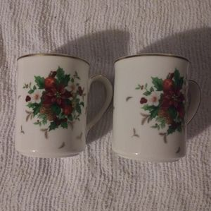 Mikasa Holiday Delight Coffee Mugs